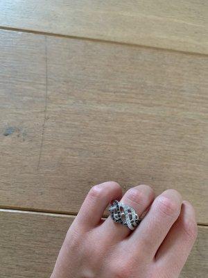 Avon Zilveren ring zilver-zwart