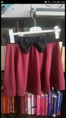 H&M Basic Falda estilo cargo negro-burdeos