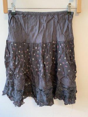 Kimchi Blue Koronkowa spódnica szary
