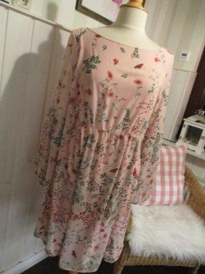 Orsay Vestido corte imperio rosa Poliéster