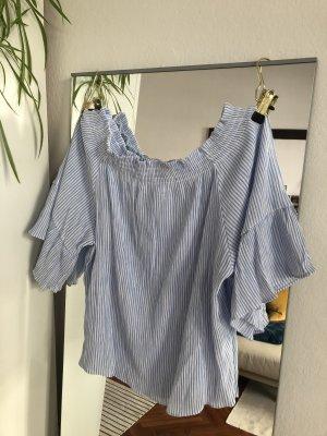 H&M Off-The-Shoulder Top white-azure