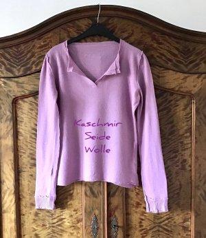 aus Italien Pull en laine rose clair-rose cachemire