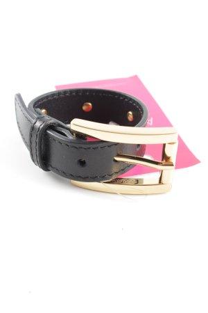 Versus Bracelet noir-doré style décontracté