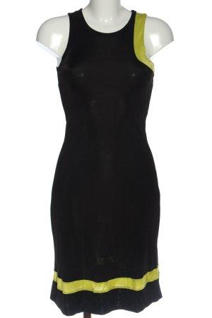 Versus Abito midi nero-giallo pallido motivo a righe stile casual