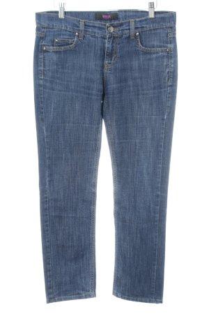 VERSUS Versace 7/8 Jeans blau meliert Casual-Look