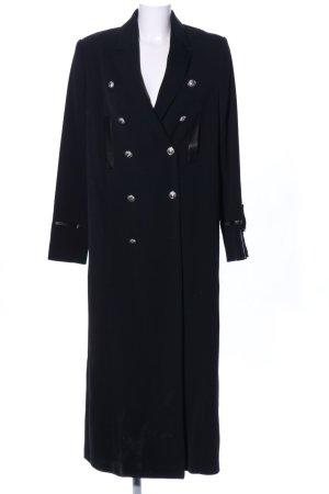 VERSUS Versace bodenlanger Mantel schwarz Business-Look
