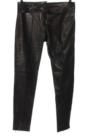 VERSUS Versace Pantalón de cuero negro look casual