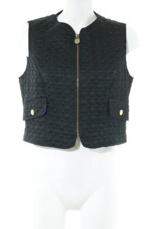 VERSUS Versace Pikowana kamizelka czarny W stylu casual