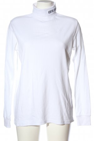 Vertere berlin Turtleneck Shirt white embroidered lettering casual look