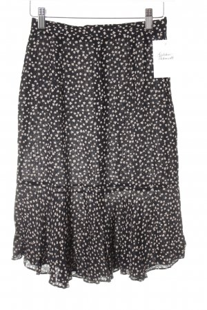Vertigo Glockenrock schwarz-beige abstraktes Muster Casual-Look
