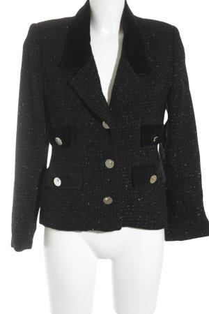Vertigo Wolljacke schwarz-silberfarben Elegant