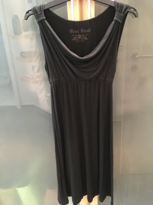 Robe empire noir coton