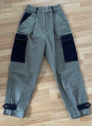 Asos High Waist Trousers black-khaki