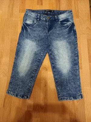 Verwaschene Jeans dreiviertel GR. S