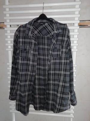 Janina Flannel Shirt grey-dark grey