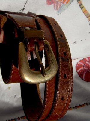 Bernini Leather Belt brown leather