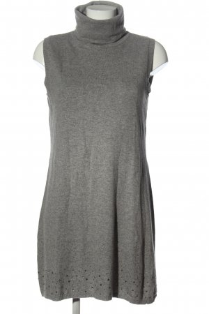 very simple Knitted Dress light grey flecked casual look