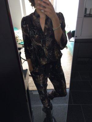 unknown Onesie grijs-paars-zwart bruin Gemengd weefsel