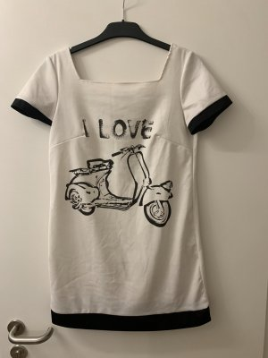 Camicia lunga bianco-nero