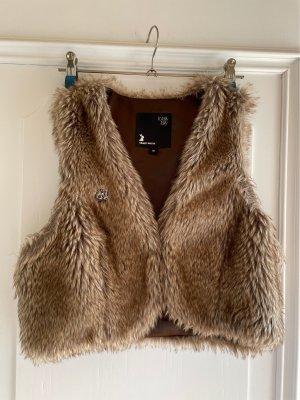 Tally Weijl Fake Fur Vest grey brown