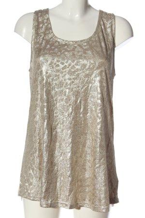 Vestino ärmellose Bluse goldfarben-creme Casual-Look