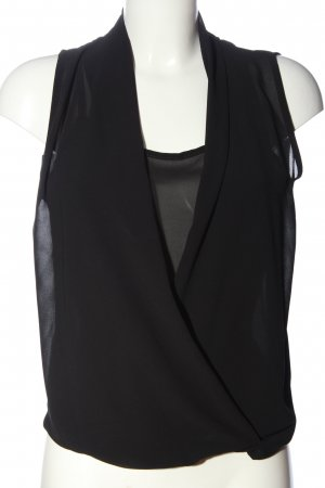 Vestino ärmellose Bluse schwarz Elegant