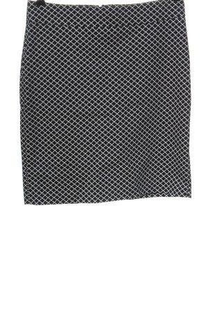Vestino Pencil Skirt black-white allover print business style