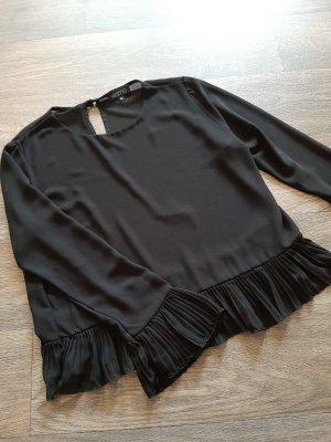 Vestino Bluse mit Plisse Rüschen, Schößchen