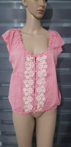 vestino bluse rosa mit Stickereien