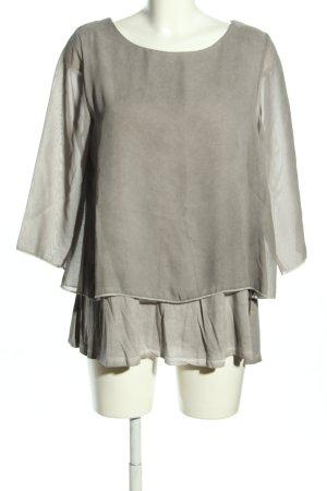 Vestino Empiècement de blouses gris clair style décontracté