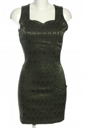 Vestino Cocktailkleid khaki Allover-Druck Glanz-Optik