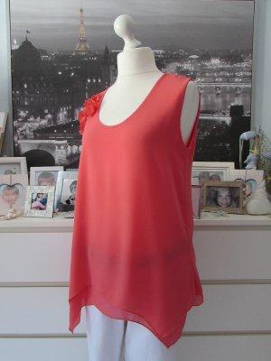 Vestino * Edles Tunika Long Top made in italy * coralle 3D-Blüten * 42