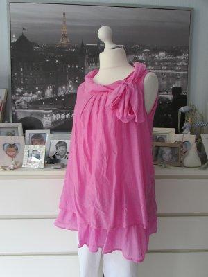 Vestino * Edles Tunika Long Top made in italy * pink Seide * 42
