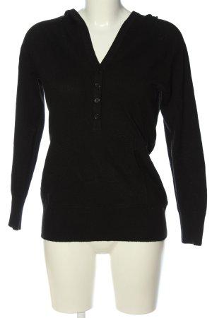 Vestino Maglione con cappuccio nero stile casual