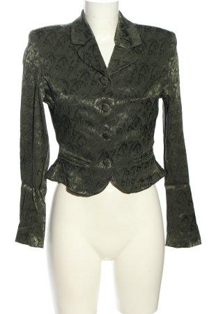 Vestino Korte blazer khaki volledige print elegant
