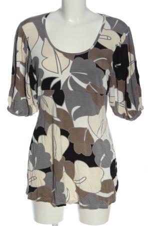 Vestino Kurzarm-Bluse abstraktes Muster Casual-Look