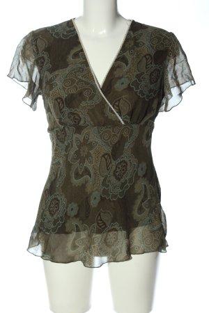 Vestino Kurzarm-Bluse khaki Allover-Druck Business-Look