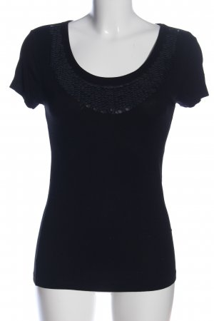 Vestino Kurzarm-Bluse schwarz Casual-Look