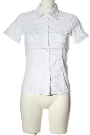 Vestino Camicia a maniche corte bianco stile casual