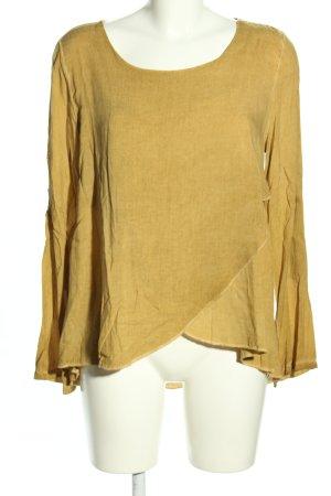 Vestino Langarm-Bluse blassgelb Casual-Look