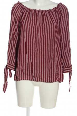 Vestino Langarm-Bluse rot-pink Allover-Druck Casual-Look