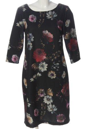 Vestino Longsleeve Dress black-red flower pattern elegant