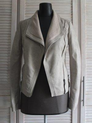 Vestino Faux Leather Jacket beige mixture fibre