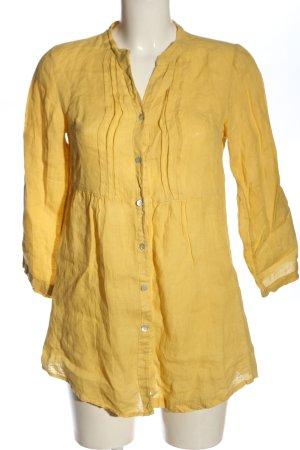 Vestino Linnen blouse sleutelbloem casual uitstraling