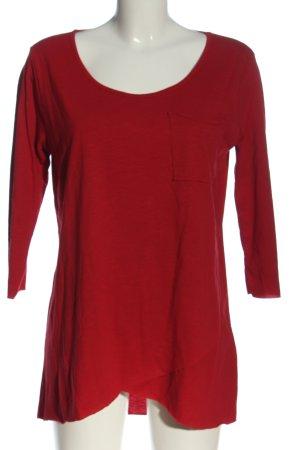 Vestino Manica lunga rosso stile casual