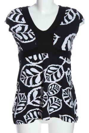 Vestino Long Blouse black-white allover print casual look
