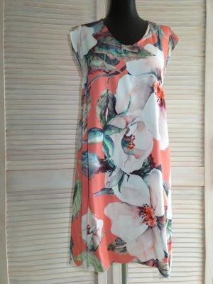 Vestino Mini Sommer-Kleid Blumen ohne Arm, Gr. 36/38, Casual