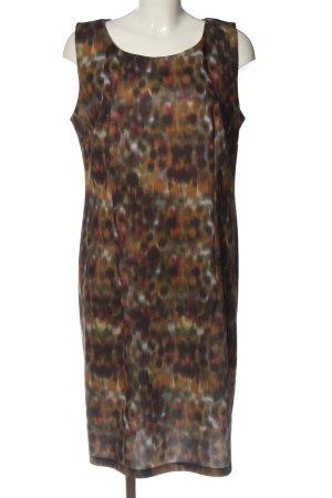 Vestino Minikleid braun-grün abstraktes Muster Casual-Look