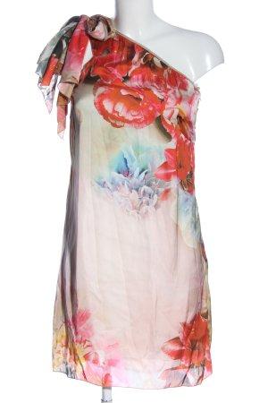 Vestino Vestido de un hombro estampado floral elegante