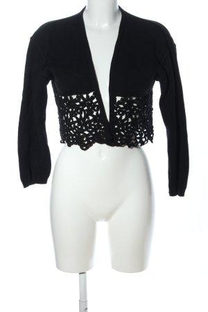 Vestino Shirtjacke schwarz Blumenmuster Elegant